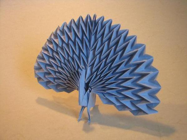 Origami Pavone
