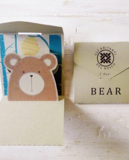 "Biglietto pop-up 7 Nodi ""Abitanti del bosco"" Bear"