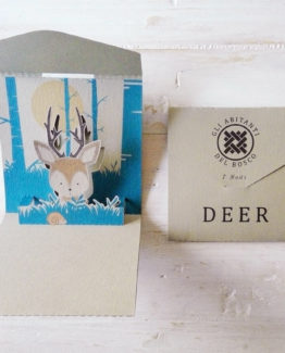"Biglietto pop-up 7 Nodi ""Deer"""
