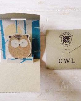 """Biglietto pop-up 7 Nodi """"Owl"""""""