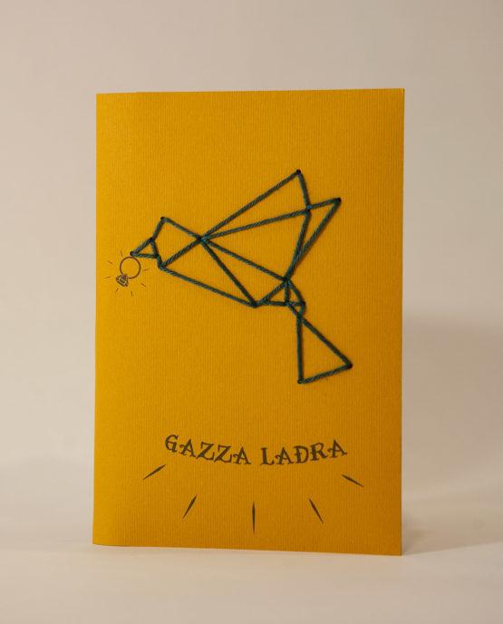 Quaderno ricamabiale - Gazza