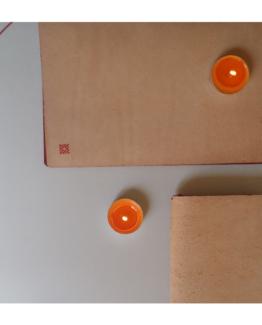Copertine in cuoi grezzo con lacci 7 Nodi.
